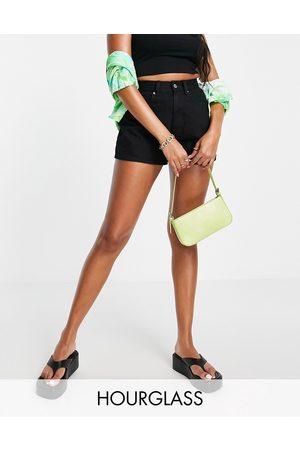 ASOS Women Shorts - Hourglass denim high rise '80s' mom shorts in