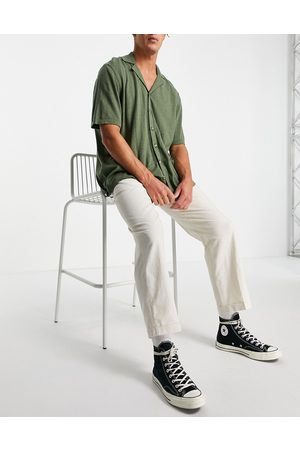 Selected Homme Linen loose fit pants in white