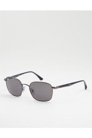 Ray-Ban Sunglasses - Unisex square sunglasses in silver 0RB3664