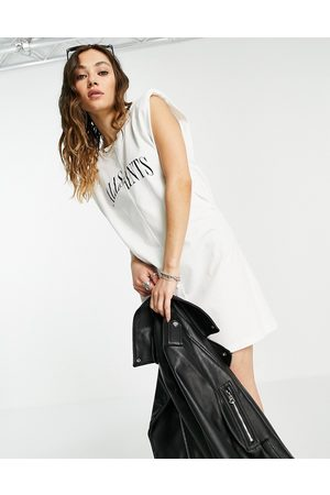 AllSaints Coni sleeveless t-shirt dress in