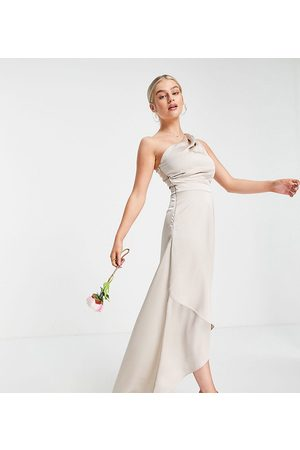 TFNC Bridesmaid one shoulder maxi dress in -Pink
