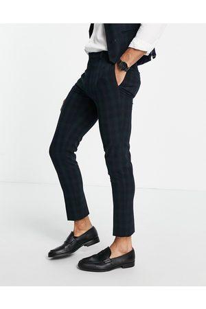 ASOS DESIGN Super skinny suit pants in blackwatch tartan