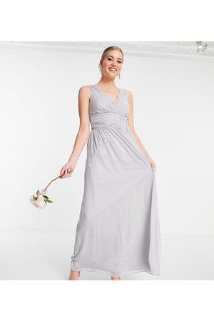 Little Mistress Tall Bridesmaid v-neck maxi dress in