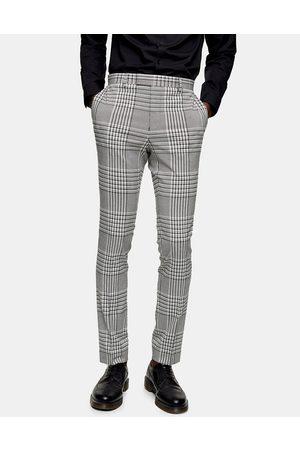 Topman Super skinny suit pants in check