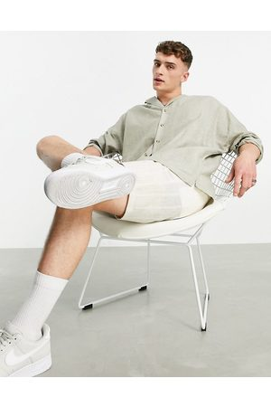 ASOS Drop shoulder oversized linen shirt with revere collar in