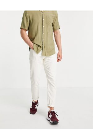 New Look Tapered cord jeans in ecru-White