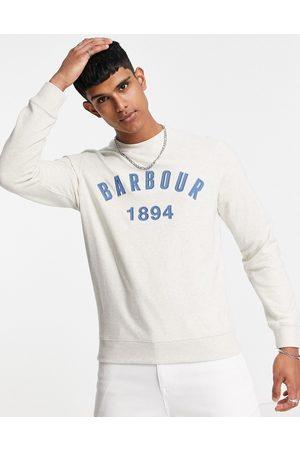 Barbour John crew neck sweatshirt in -White