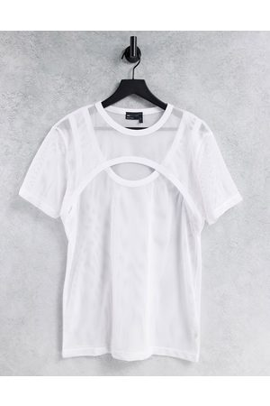 ASOS Double layer mesh T-shirt in