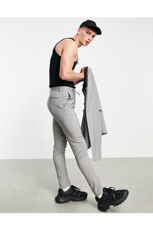 ASOS DESIGN Slim smart drawstring waist pants co-ord in micro check
