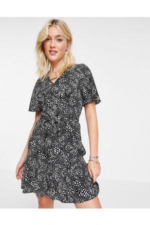 Girl In Mind Women Mini Dresses - Angel sleeve mini dress in -Multi