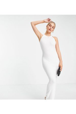Missguided Maxi dress with halterneck in