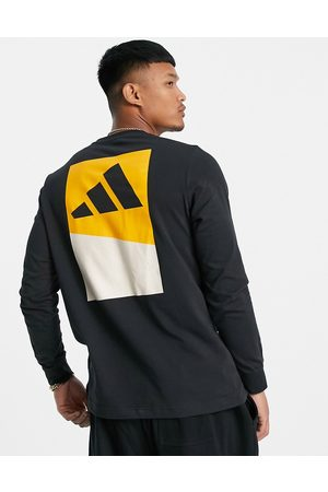 adidas performance Adidas Training long-sleeved top with back print in
