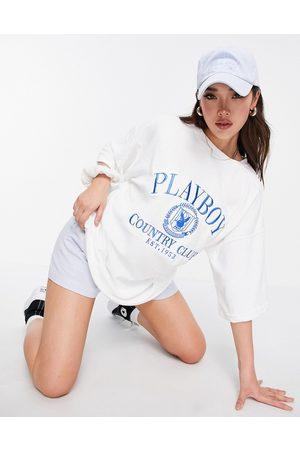 Missguided Playboy Sports towelling t-shirt dress in