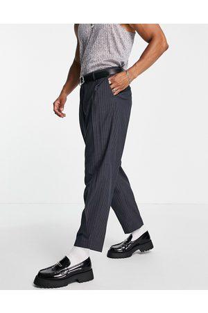 ASOS Oversized tapered smart pants in stripe