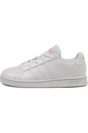 adidas Grand Court K Jnr Pop Sneakers Girls Shoes School Casual Sneakers