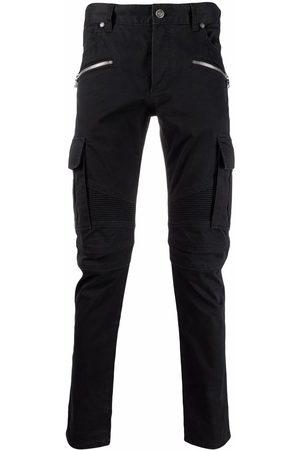 Balmain Men Straight - B-embossed cargo jeans