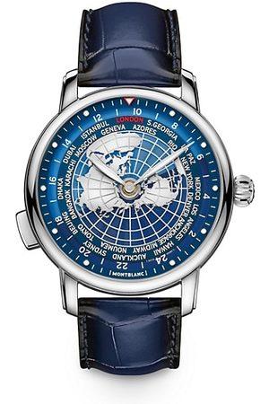 Mont Blanc Watches - Star Legacy Orbis Terrarum Stainless Steel & Alligator Strap Watch
