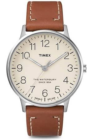 Timex Men Watches - Waterbury Classic Stainless Steel & Leather Strap Watch