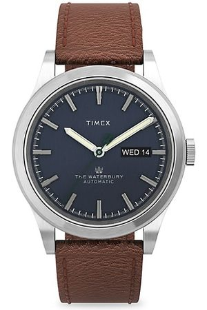 Timex Men Watches - Waterbury Traditional Stainless Steel & Leather Strap Watch