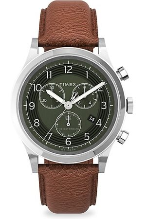 Timex Waterbury Traditional Stainless Steel & Leather Chronograph Watch