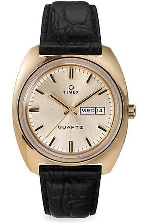 Timex Q 1975 Reissue Leather Strap Watch