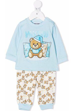 Moschino Kids Baby Sets - Sleeping bear trouser set