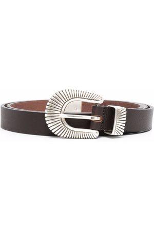 ELEVENTY Buckled leather belt