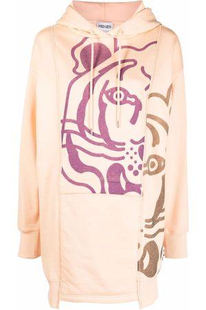 Kenzo Tiger-print hoodie dress