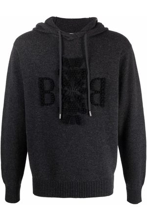 Barrie Jacquard-logo motif hoodie