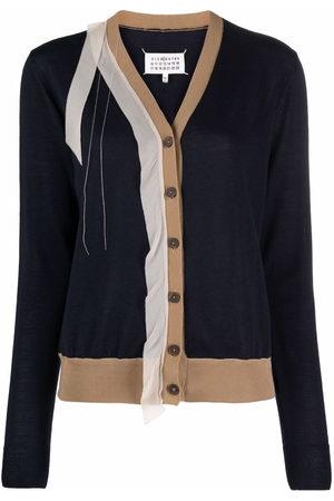 Maison Margiela Women Cardigans - Deconstructed V-neck cardigan