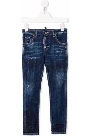 Dsquared2 Distressed-finish straight jeans