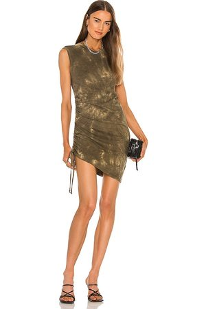 Pam & Gela Ruched Muscle Dress in .