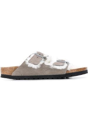 Birkenstock Women Sandals - Arizona two-strap shearling sandals