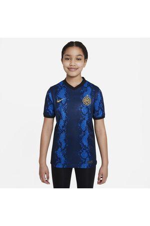 Nike Shirts - Inter Milan 2021/22 Stadium Home Older Kids' Dri-FIT Football Shirt