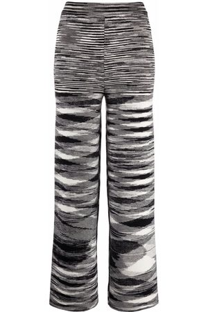 Missoni Zigzag knitted straight-leg trousers