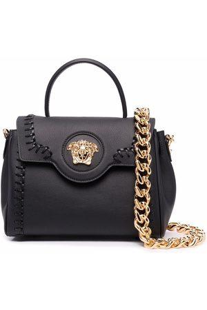 Versace Women Tote Bags - Medusa-head plaque tote bag