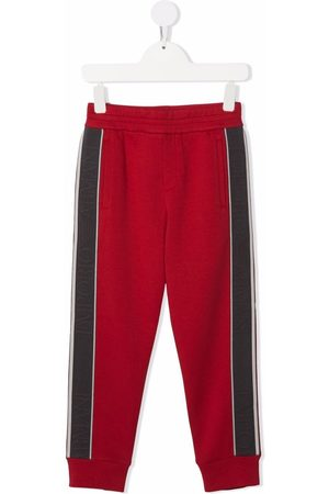 Emporio Armani Boys Joggers - Side logo-print track pants