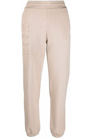 Msgm Women Joggers - 3141MDP65217799 23 BEIGE Natural (Vegetable)->Cotton