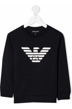 Emporio Armani Boys Sweatshirts - Logo-print crew neck sweatshirt