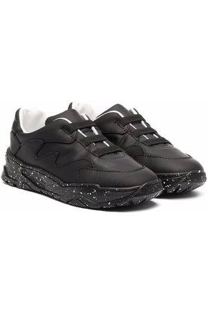 Emporio Armani Sneakers - Low-top leather sneakers