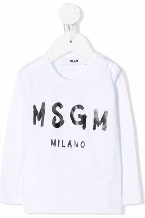 MSGM Kids Logo-print long-sleeved T-shirt