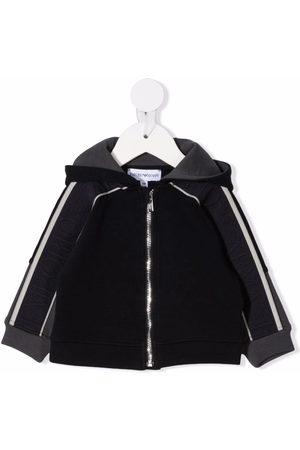 Emporio Armani Kids Bomber Jackets - Logo-print sleeve jacket