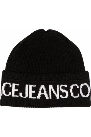 Versace Jeans Couture Men Beanies - Intarsia-knit wool-blend beanie