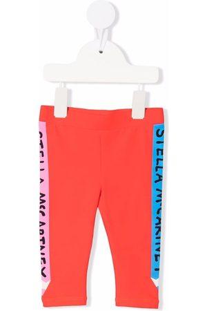 Stella McCartney Leggings - Logo-stripe colourblock leggings