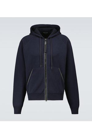 Tom Ford Cotton-blend hooded sweatshirt