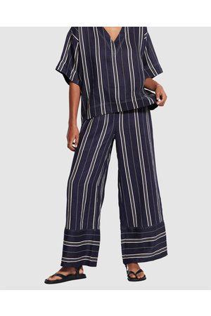 Seafolly Women Pants - Sand Stripe Pant - Shorts (Dark Navy) Sand Stripe Pant