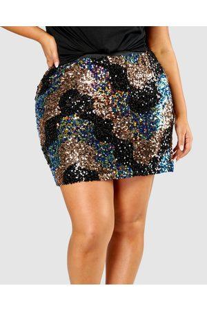 Pink Dusk French Kiss Sequin Skirt - Skirts (multi) French Kiss Sequin Skirt