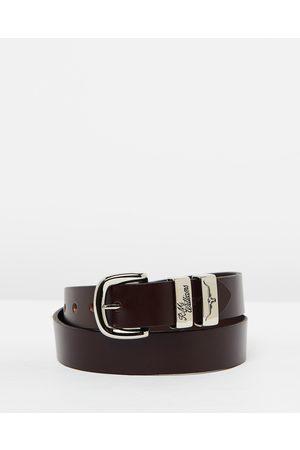 "R.M.Williams 1 1 4"" 3 Piece Solid Hide Belt - Belts (Chestnut) 1 1-4"" 3 Piece Solid Hide Belt"