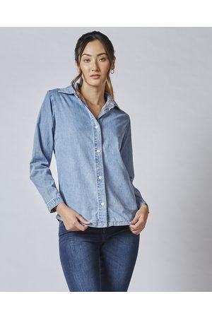 DRICOPER DENIM Girls Shirts - Valiant Denim Shirt - Tops (Drain Wash) Valiant Denim Shirt