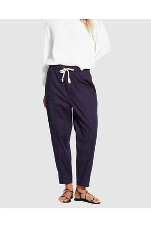 Seafolly Taper Poplin Pant - Shorts (True Navy) Taper Poplin Pant